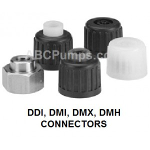 Connector - DN 8 PVC to 1/2in MNPT. Alldos 529-207
